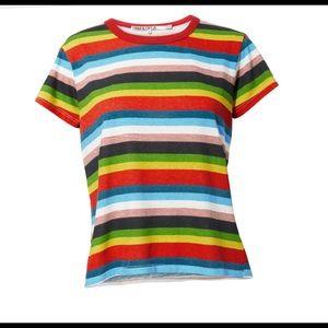Pam & Gela Rainbow Striped T-shirt NWT